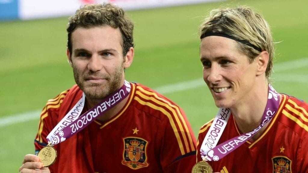 Torres and Mata with EURO Cup