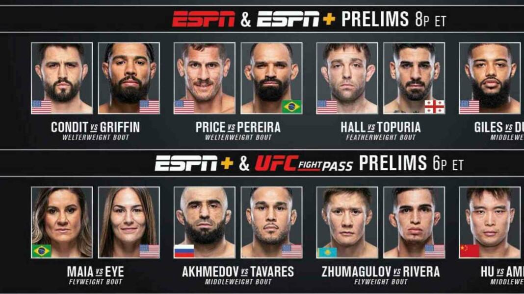 UFC 264 fight card
