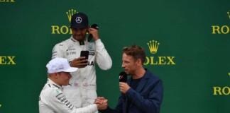 Valtteri Bottas, Lewis Hamilton and Jenson Button