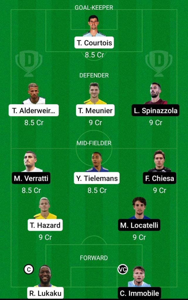 BEL vs ITA Dream11 Prediction