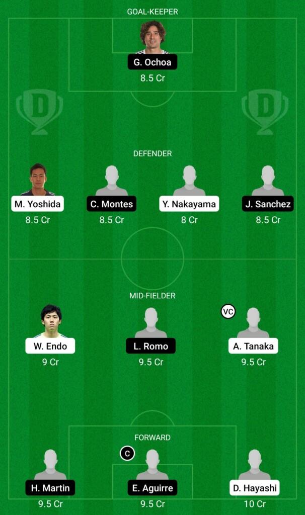 Japan vs Mexico Dream11 Prediction