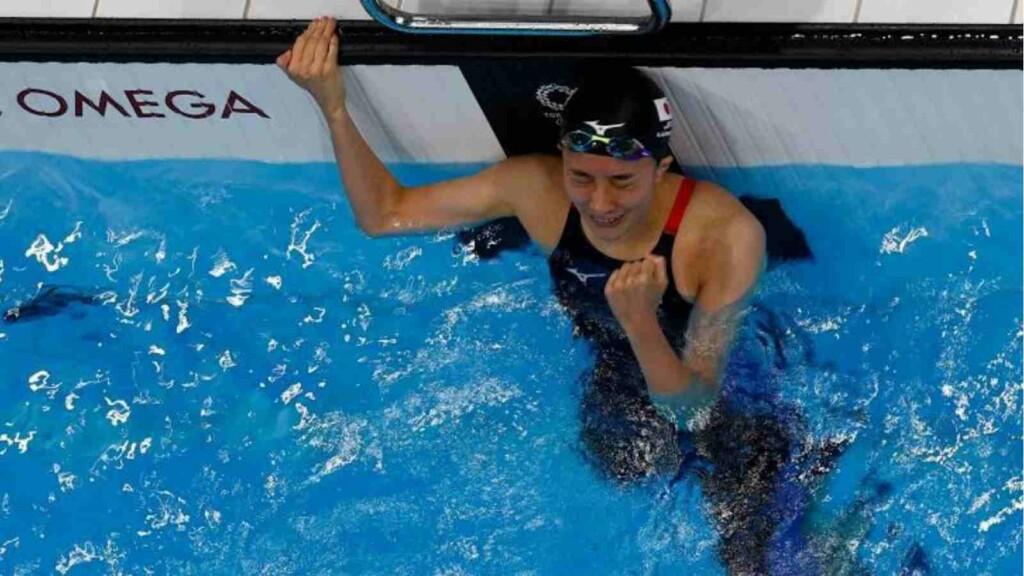 Yu Ohashi wins gold 200m individual medley in swimming at Tokyo Olympics.