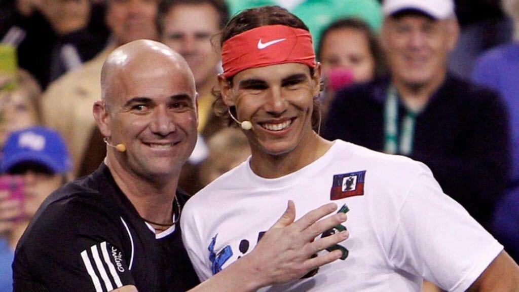 Andre Agassi and Rafael Nadal