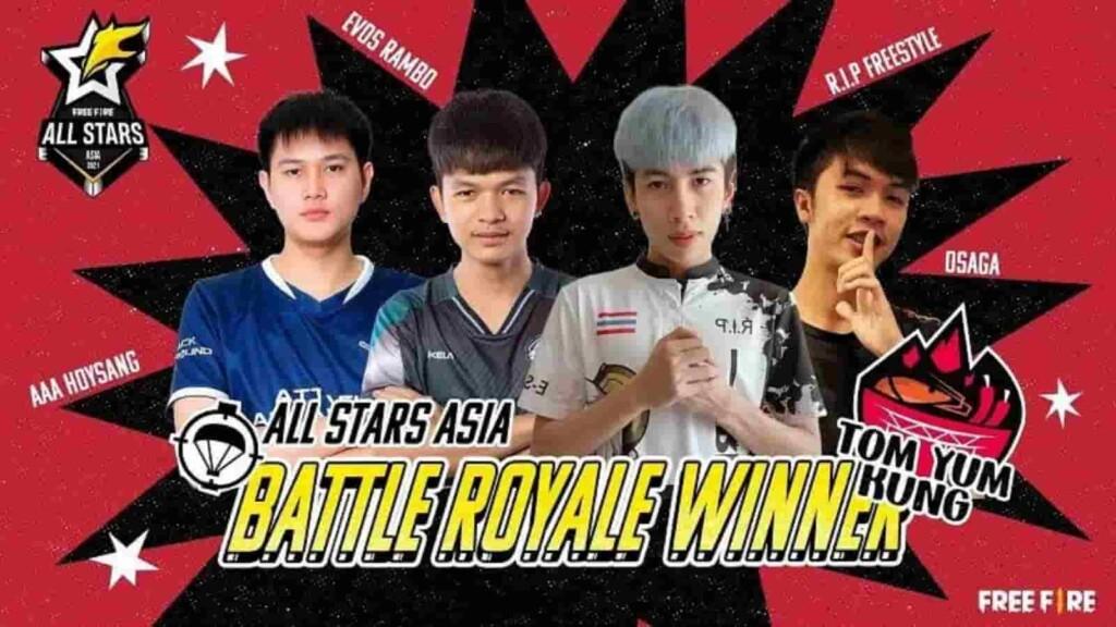 Free Fire All Stars 2021 Asia