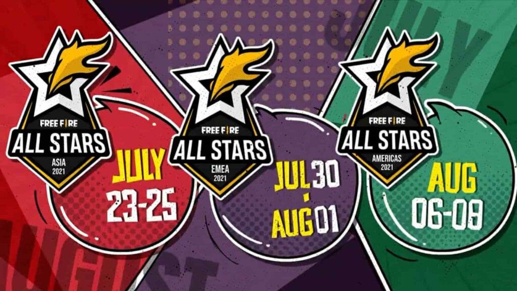 Free Fire All-Stars 2021 Schedule
