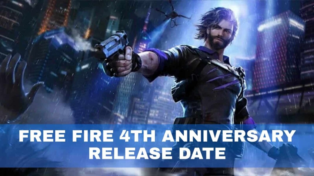 Free Fire 4th Anniversary Release Date