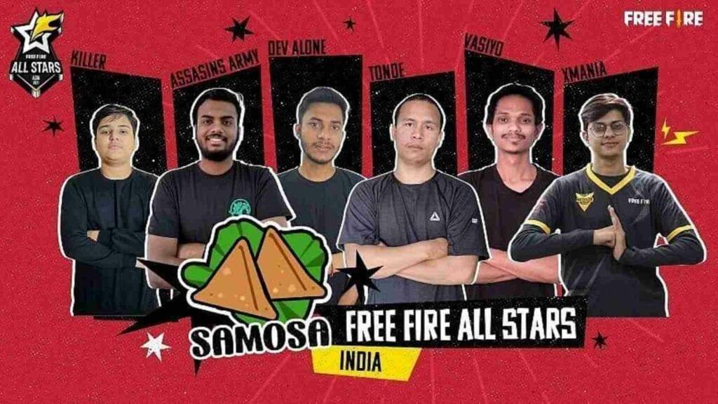 Free Fire All Stars Samosa Team