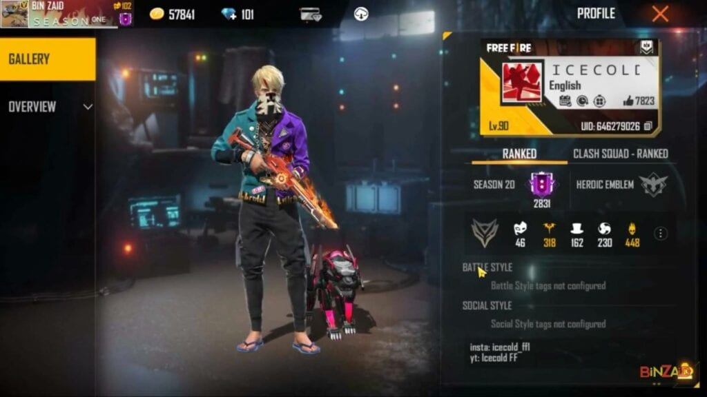 highest level id in free fire