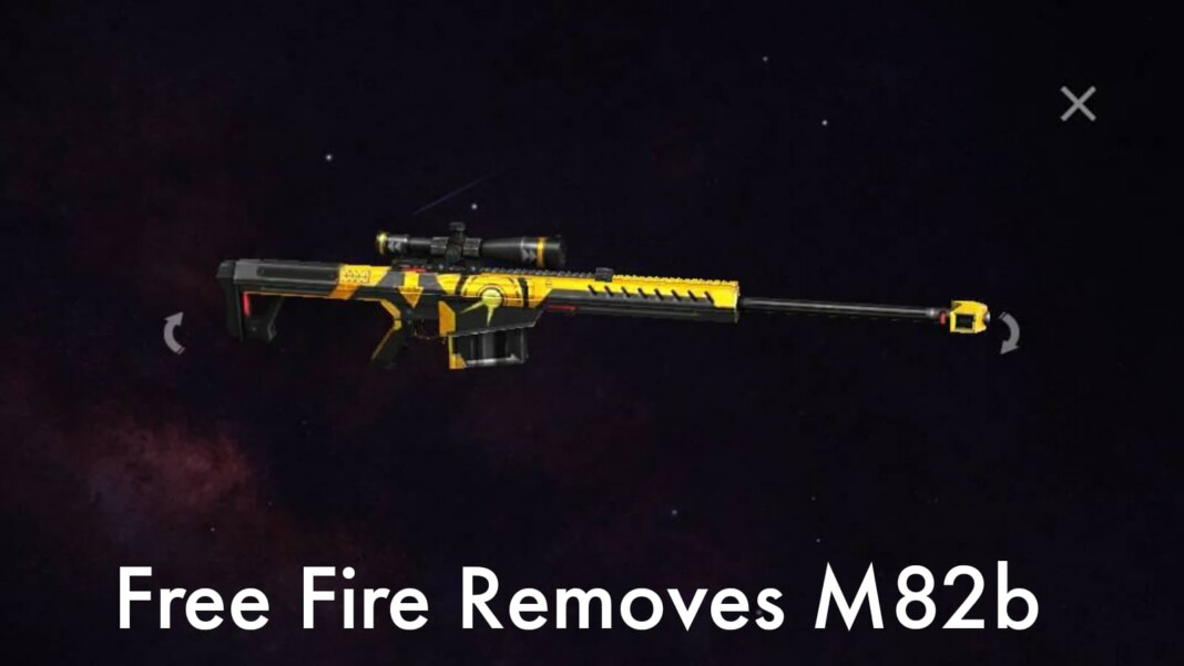 Free Fire Removes M82B