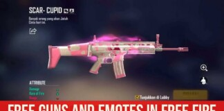 Free Gun Skins and Emotes In Free Fire