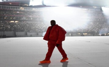 Why is Kanye West residing in the Mercedes Benz Stadium?