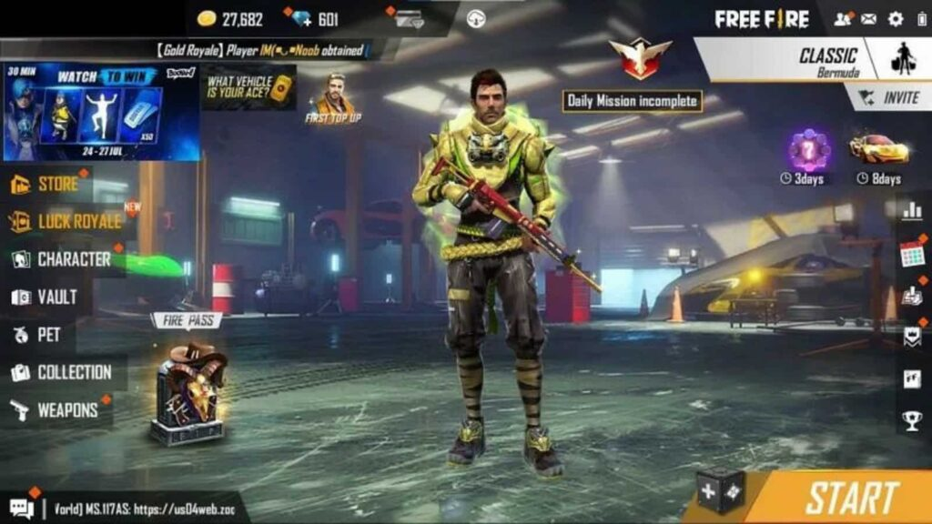 Gloo Wall Skin For Free In Free Fire