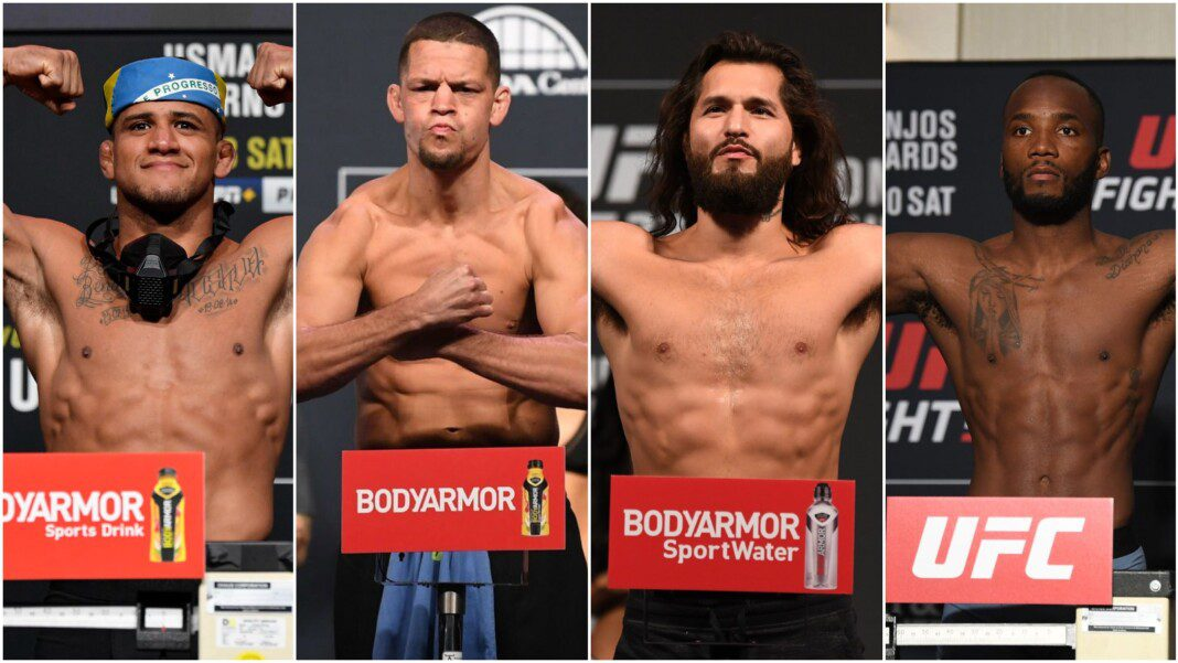 Gilbert Burns, Nate Diaz, Jorge Masvidal and Leon Edwards
