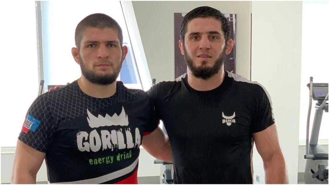 Khabib Nurmagomedov and Islam Makhachev