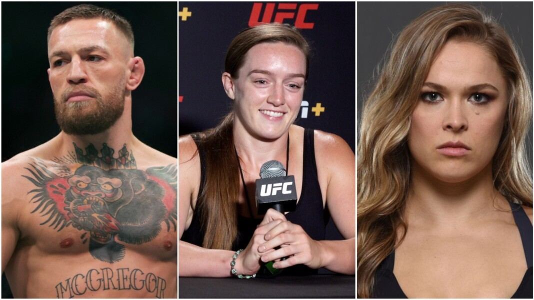 Conor McGregor, Aspen Ladd and Ronda Rousey