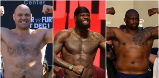 Tyson Fury, Deontay Wilder and Dillian Whyte