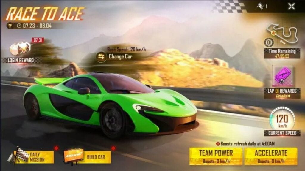 Race To Ace Event In Free Fire