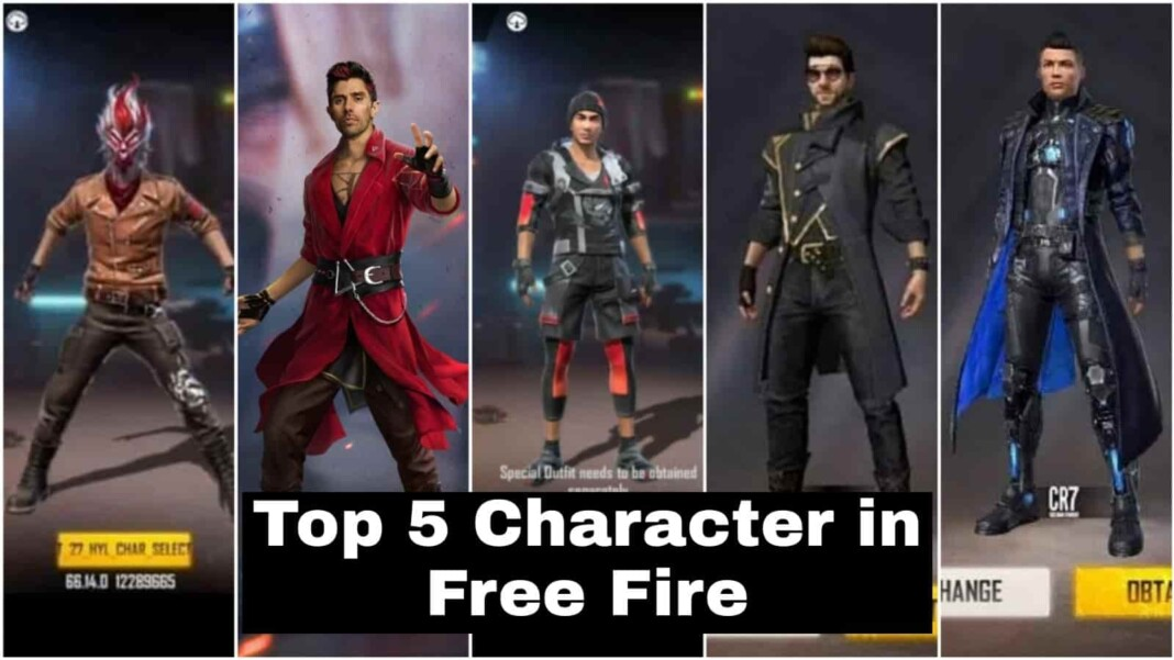 Top 5 Best Characters In Free Fire