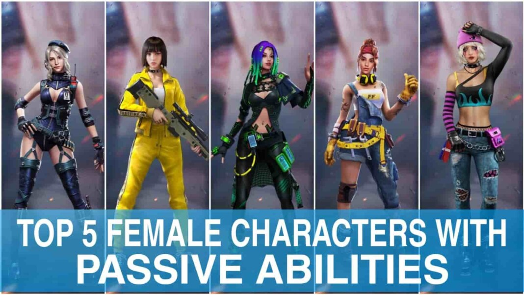 best female free fire characters