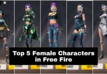 female characters in free fire