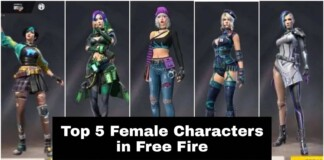 top 5 best female free fire characters