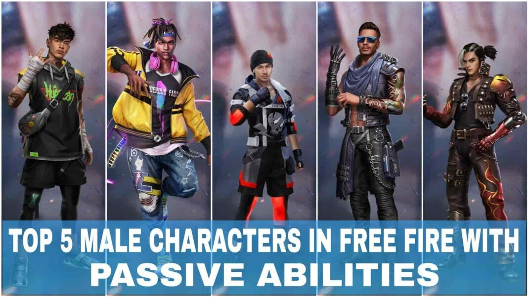 top 5 male characters in Free Fire