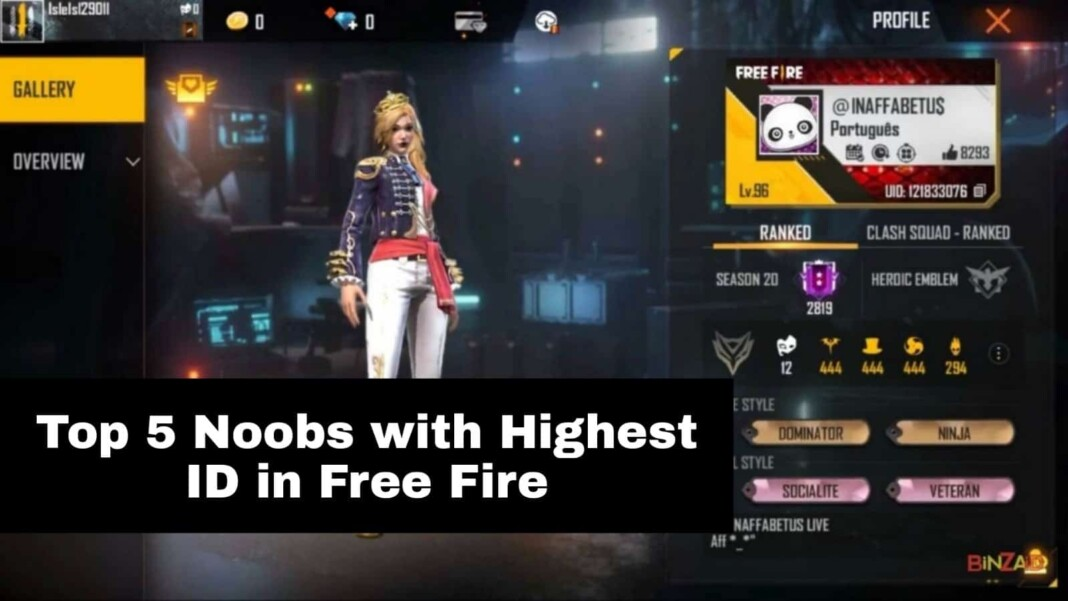 top 5 noobs in Free Fire