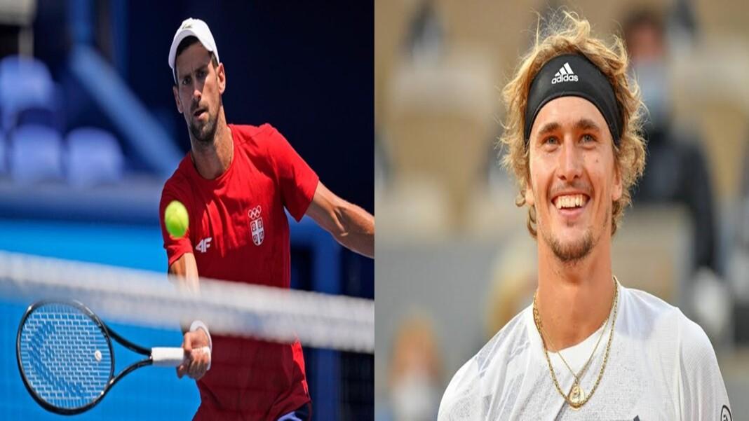 Novak Djokovic and Alexander Zverev