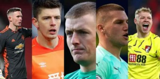 Top 5 English Goalkeepers currently