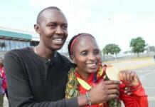 Hellen Obiri and Tom Nyaundi