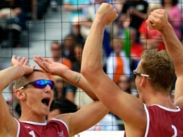 Latvian men's beach volleyball team