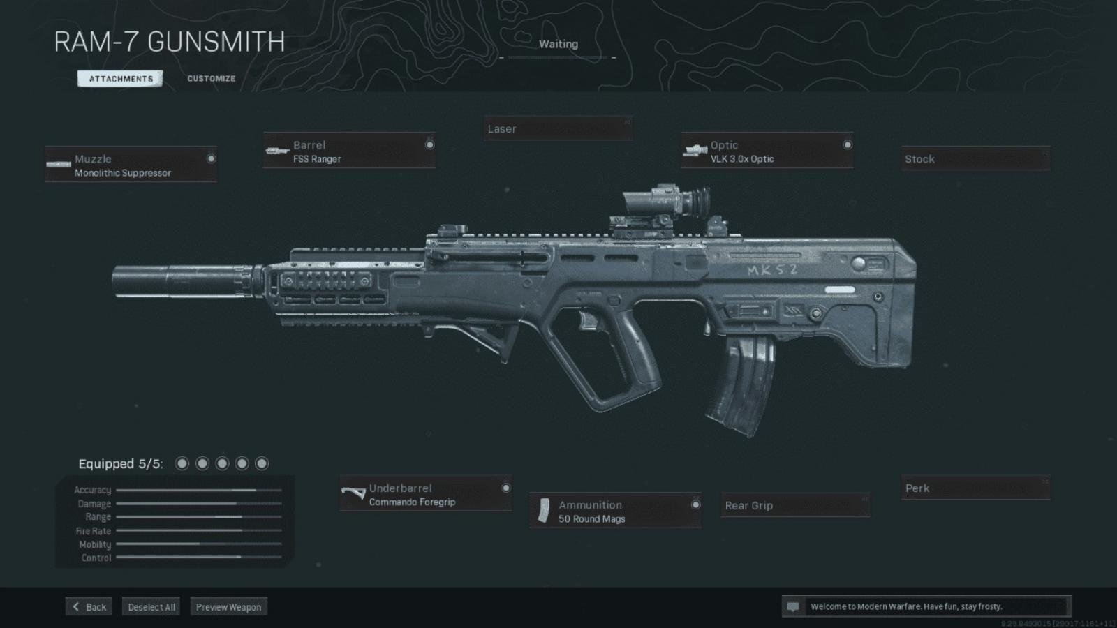 The Best RAM-7 Warzone Loadout with Details