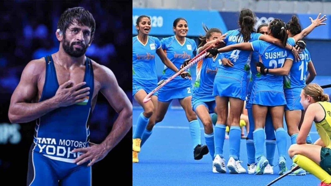 Bajrang Punia and Indian Women's Hockey Team