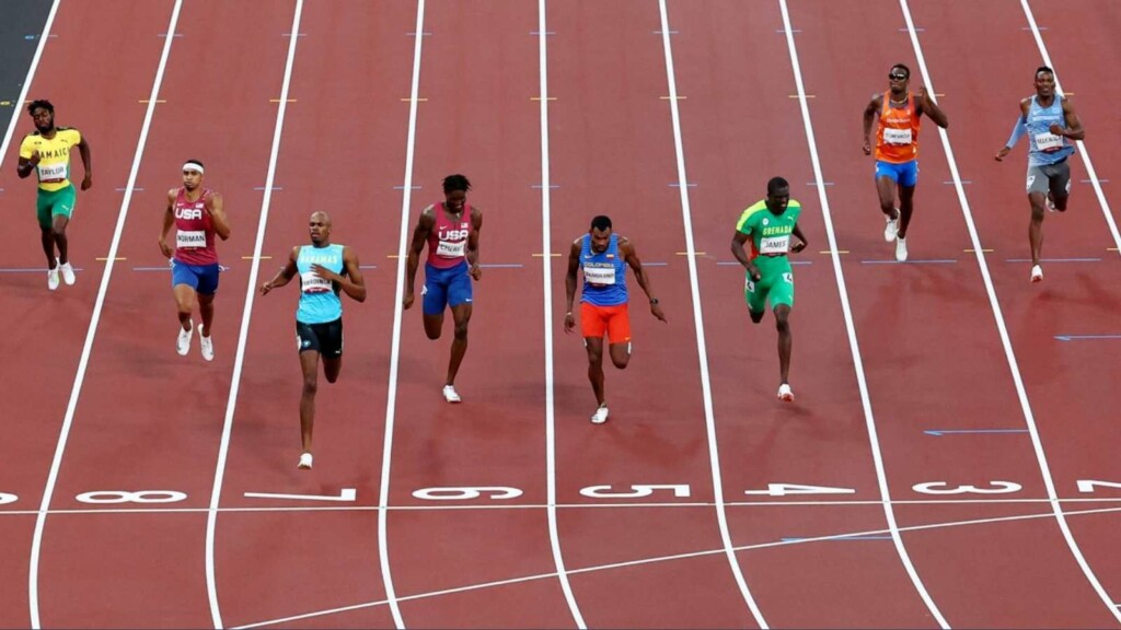 The men's 400m final at Tokyo Olympics