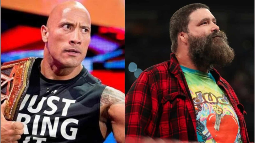 The Rock and Mick Foley have shared the ring a lot of times in their career