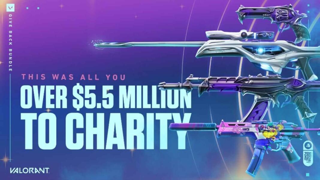 Valorant Give Back Bundle Raised $5.5 Million For Charity