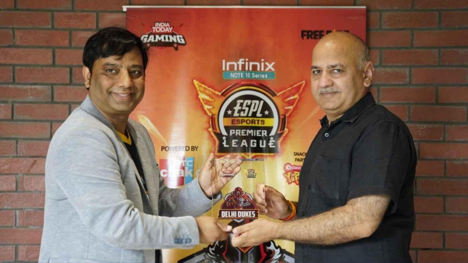 ESPL 2021: Deputy Chief Minister Sisodia launches Team Delhi Dukes