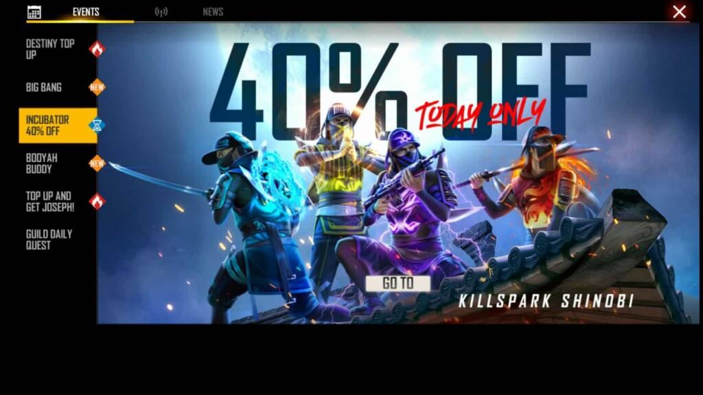 killspark gamma bundle in free fire