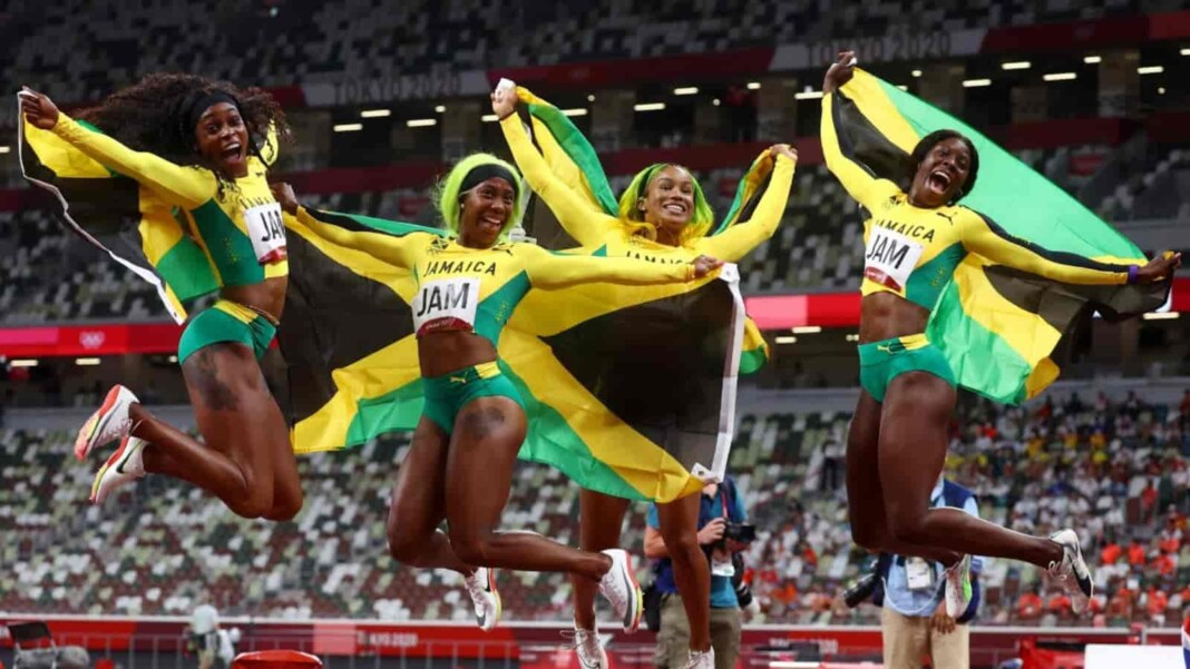 Jamaican 4x100m women's relay team