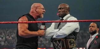 Goldberg and Bobby lashley engaged in a powerful battle at Summerslam