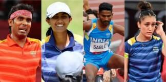 Sharath Kamal, Aditi Ashok, Avinash Sable and Manika Batra