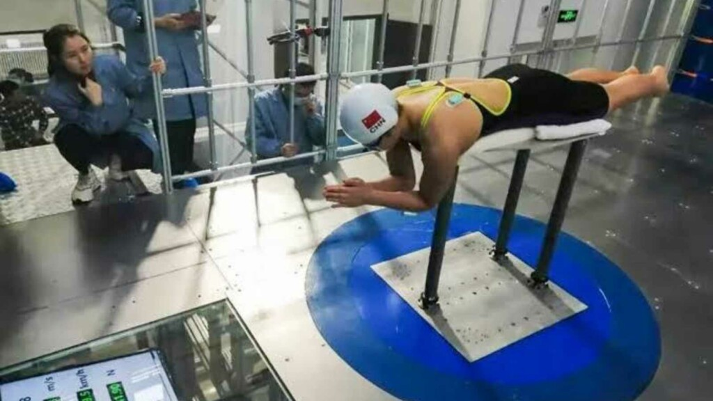 Swimming at Tokyo Olympics; High tech systems used by Chinese Swimmers
