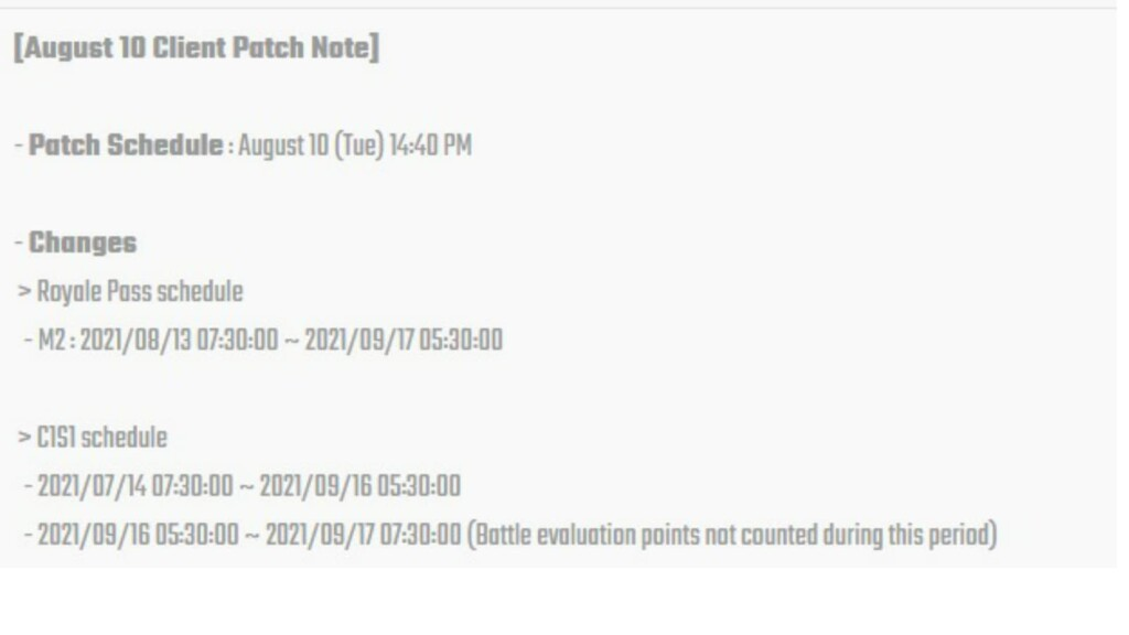 BGMI Patch Notes (August 2021): RPM2 and C1S2 schedule revealed