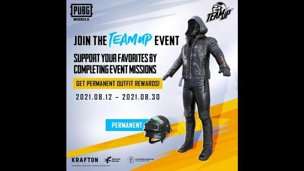 PUBG Mobile Team Up 2021: Get a free permanent outfit and vehicle skin!
