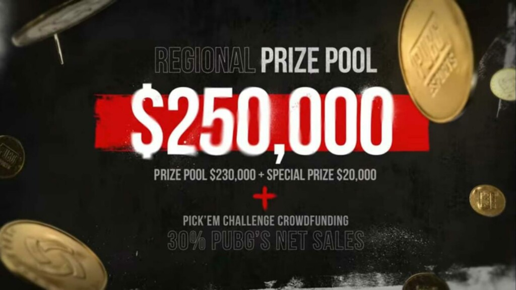 Krafton announces PUBG Continental Series 5 with with $1 million prize pool