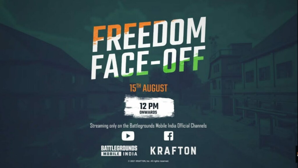 Krafton announces BGMI Freedom Face-Off with 1.5 lakhs INR prize pool