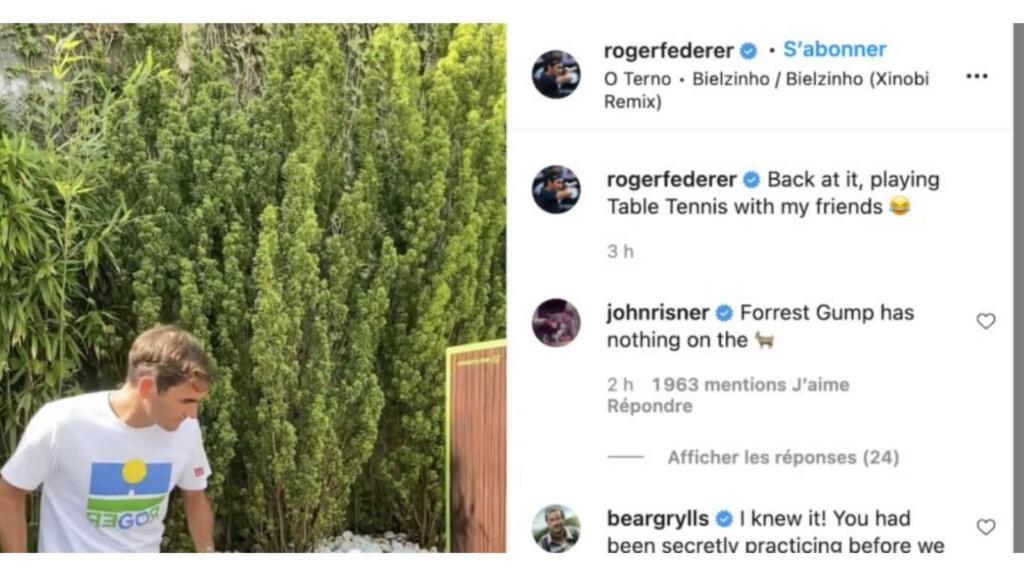 Roger Federer instagram