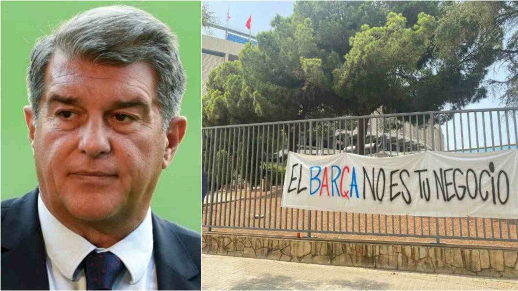 Joan Laporta faces direct Critcism from Catalan Fans