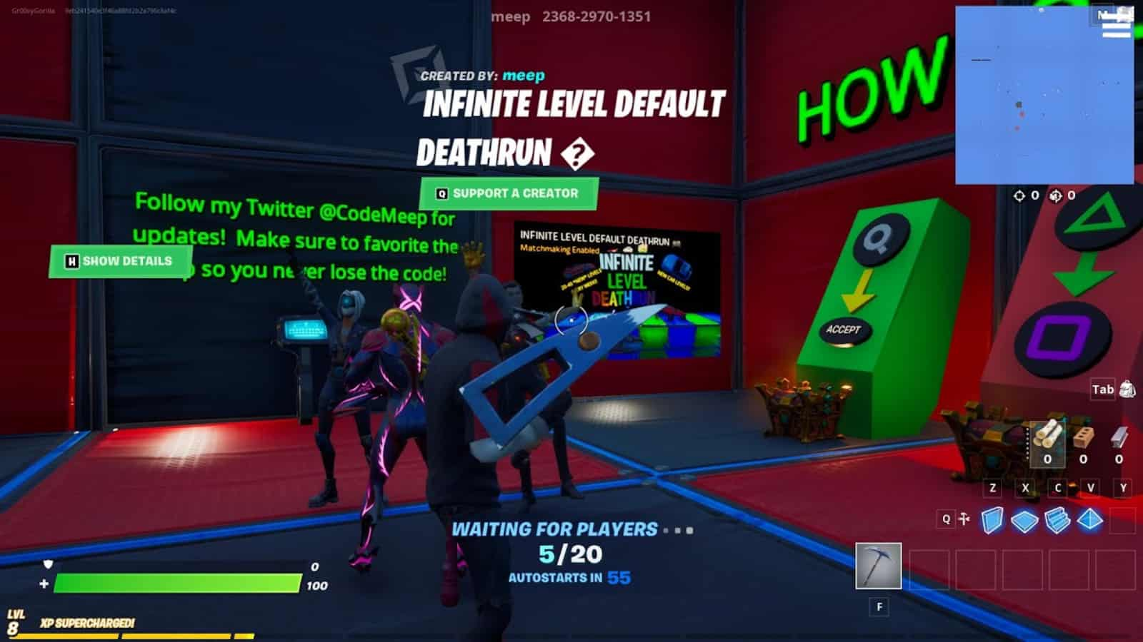 Fortnite Infinite Level Default Deathrun: New Creative Map Code and All About it