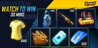 free fire watch to win